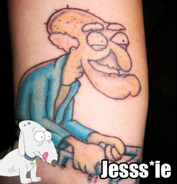 The most unlikely Family guy tattoo.. hmmm