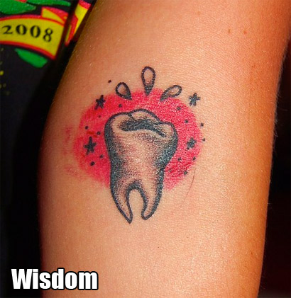 """Me and my mom got this tattoo together to represent wisdom."""