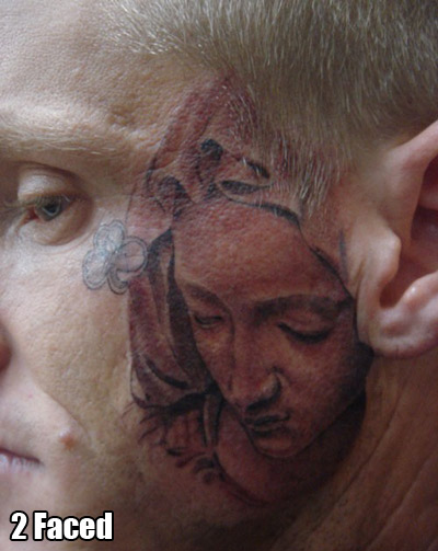 Is that REALLY a good place to ink the Virgin Mary?
